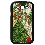 Christmas Quilt Background Samsung Galaxy Grand DUOS I9082 Case (Black) Front