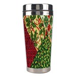 Christmas Quilt Background Stainless Steel Travel Tumblers Left