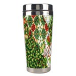 Christmas Quilt Background Stainless Steel Travel Tumblers Center