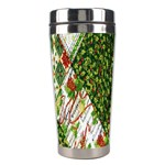 Christmas Quilt Background Stainless Steel Travel Tumblers Right