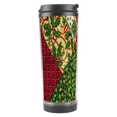 Christmas Quilt Background Travel Tumbler
