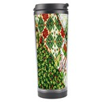 Christmas Quilt Background Travel Tumbler Center