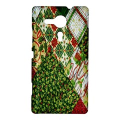 Christmas Quilt Background Sony Xperia SP