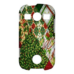 Christmas Quilt Background Samsung Galaxy S7710 Xcover 2 Hardshell Case