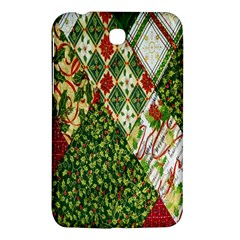 Christmas Quilt Background Samsung Galaxy Tab 3 (7 ) P3200 Hardshell Case