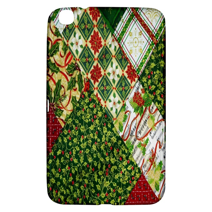 Christmas Quilt Background Samsung Galaxy Tab 3 (8 ) T3100 Hardshell Case