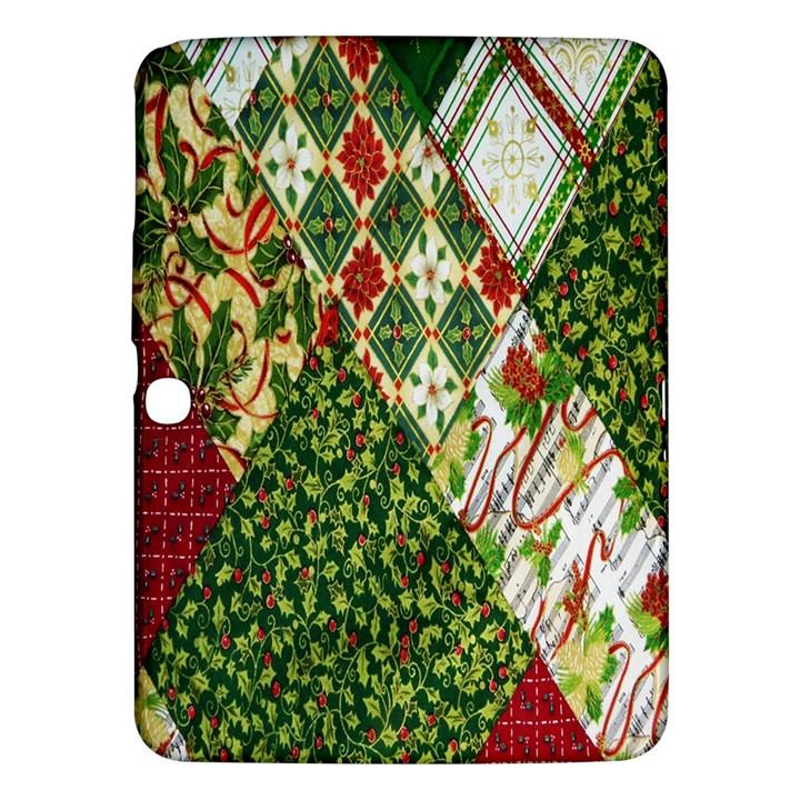 Christmas Quilt Background Samsung Galaxy Tab 3 (10.1 ) P5200 Hardshell Case
