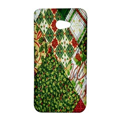 Christmas Quilt Background HTC Butterfly S/HTC 9060 Hardshell Case