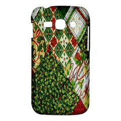 Christmas Quilt Background Samsung Galaxy Ace 3 S7272 Hardshell Case