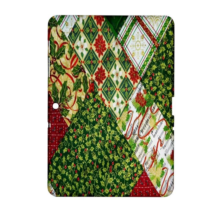 Christmas Quilt Background Samsung Galaxy Tab 2 (10.1 ) P5100 Hardshell Case