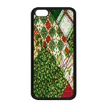Christmas Quilt Background Apple iPhone 5C Seamless Case (Black) Front
