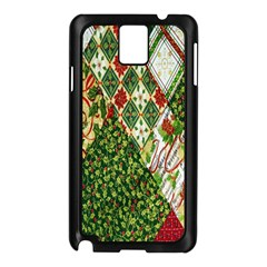 Christmas Quilt Background Samsung Galaxy Note 3 N9005 Case (Black)