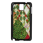 Christmas Quilt Background Samsung Galaxy Note 3 N9005 Case (Black) Front