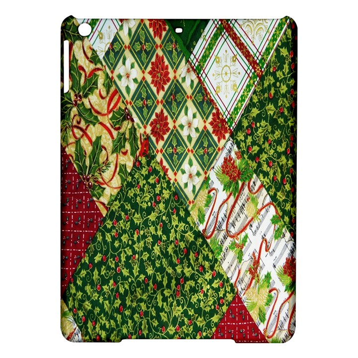 Christmas Quilt Background iPad Air Hardshell Cases