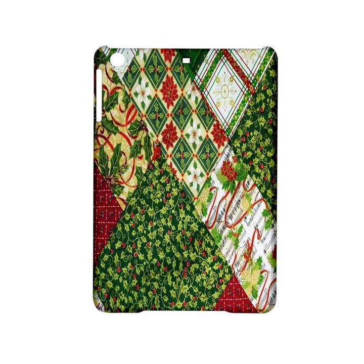 Christmas Quilt Background iPad Mini 2 Hardshell Cases
