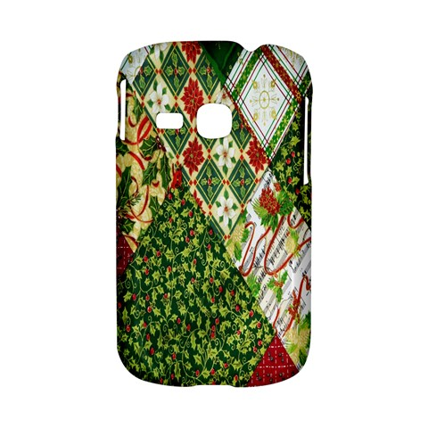 Christmas Quilt Background Samsung Galaxy S6310 Hardshell Case