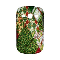Christmas Quilt Background Samsung Galaxy S6810 Hardshell Case