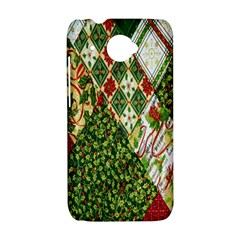 Christmas Quilt Background HTC Desire 601 Hardshell Case