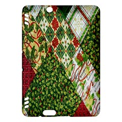 Christmas Quilt Background Kindle Fire HDX Hardshell Case