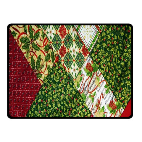 Christmas Quilt Background Double Sided Fleece Blanket (Small)