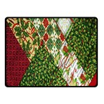 Christmas Quilt Background Double Sided Fleece Blanket (Small)  50 x40 Blanket Front