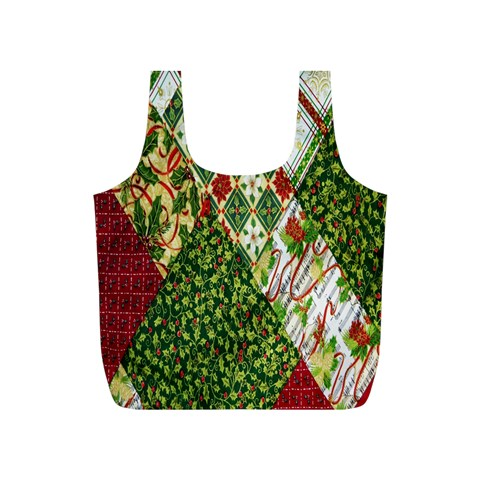 Christmas Quilt Background Full Print Recycle Bags (S)
