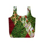 Christmas Quilt Background Full Print Recycle Bags (S)  Back