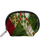 Christmas Quilt Background Accessory Pouches (Small)  Front
