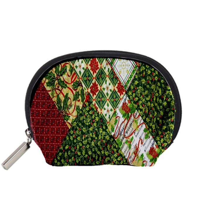 Christmas Quilt Background Accessory Pouches (Small)