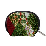 Christmas Quilt Background Accessory Pouches (Small)  Back
