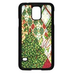 Christmas Quilt Background Samsung Galaxy S5 Case (Black) Front