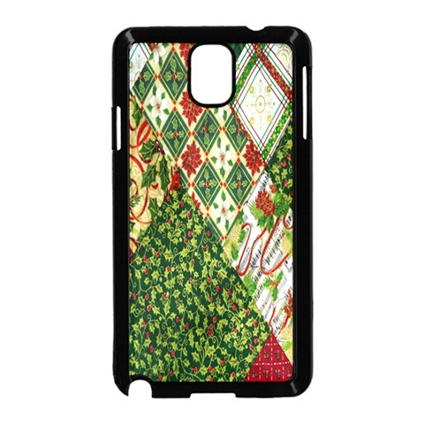 Christmas Quilt Background Samsung Galaxy Note 3 Neo Hardshell Case (Black)