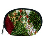 Christmas Quilt Background Accessory Pouches (Medium)  Front