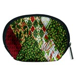 Christmas Quilt Background Accessory Pouches (Medium)  Back