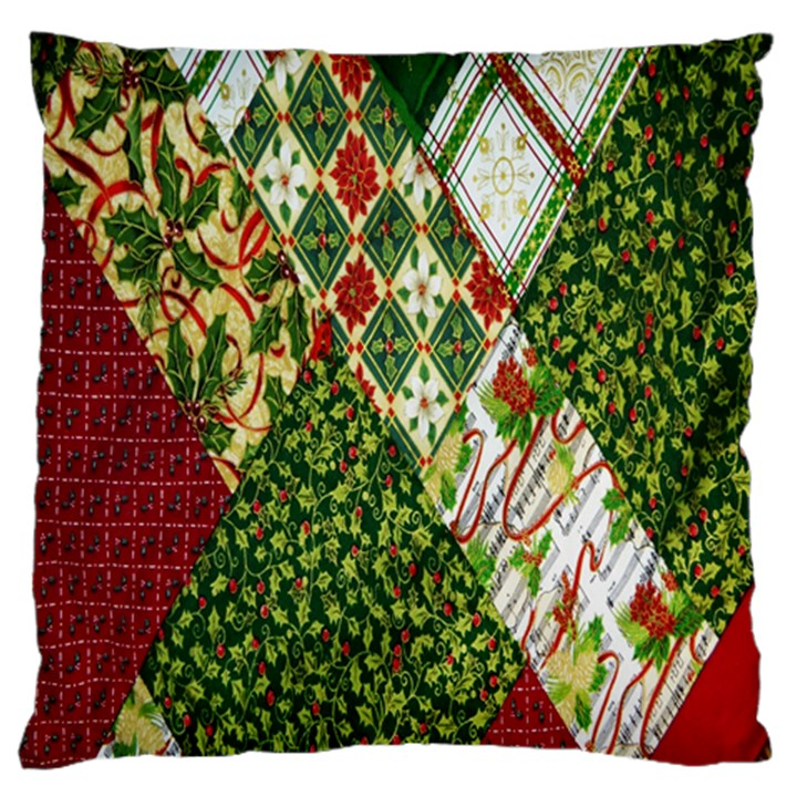 Christmas Quilt Background Standard Flano Cushion Case (Two Sides)