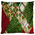 Christmas Quilt Background Large Flano Cushion Case (Two Sides) Back