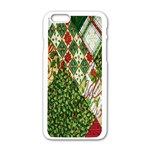 Christmas Quilt Background Apple iPhone 6/6S White Enamel Case Front