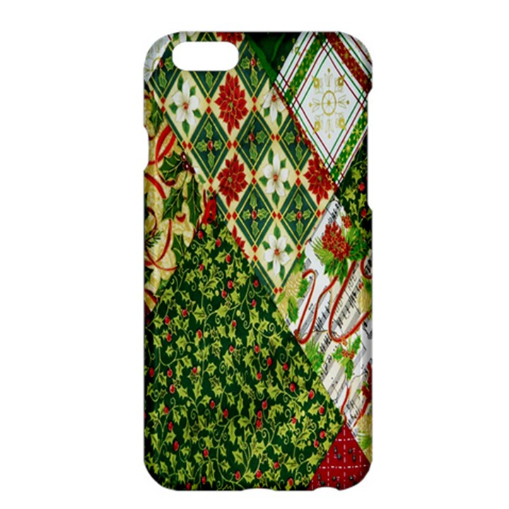 Christmas Quilt Background Apple iPhone 6 Plus/6S Plus Hardshell Case