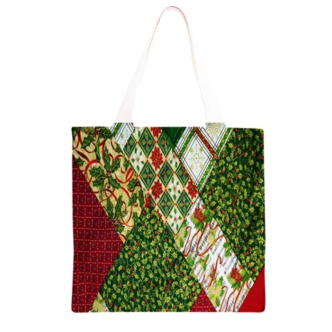 Christmas Quilt Background Grocery Light Tote Bag