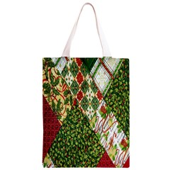 Christmas Quilt Background Classic Light Tote Bag
