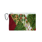 Christmas Quilt Background Canvas Cosmetic Bag (S) Front