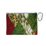 Christmas Quilt Background Canvas Cosmetic Bag (M) Back