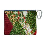 Christmas Quilt Background Canvas Cosmetic Bag (XL) Back