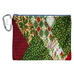 Christmas Quilt Background Canvas Cosmetic Bag (XXL) Front