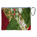 Christmas Quilt Background Canvas Cosmetic Bag (XXL) Back