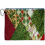 Christmas Quilt Background Canvas Cosmetic Bag (XXXL) Front