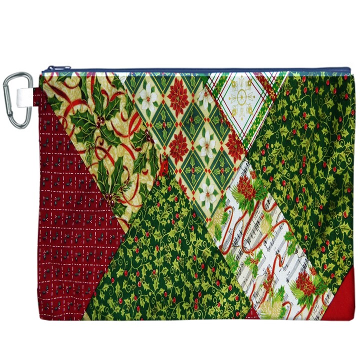 Christmas Quilt Background Canvas Cosmetic Bag (XXXL)