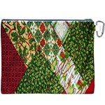 Christmas Quilt Background Canvas Cosmetic Bag (XXXL) Back