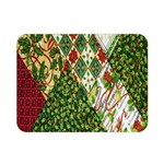 Christmas Quilt Background Double Sided Flano Blanket (Mini)  35 x27 Blanket Front
