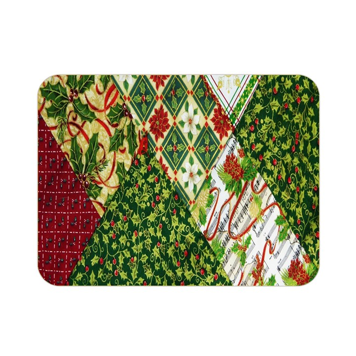 Christmas Quilt Background Double Sided Flano Blanket (Mini)